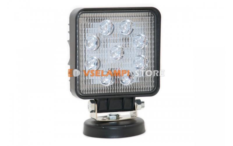 Прожектор квадратный 9-32V 8SMD 110x110mm 27W ближний