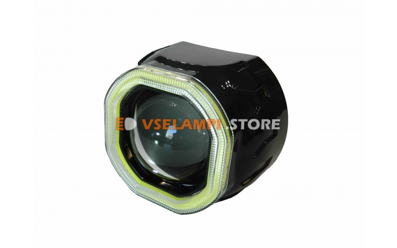 Линза для би-ксеноновой лампы - Clearlight 2,5 с диодной подсветкой, цвет черный