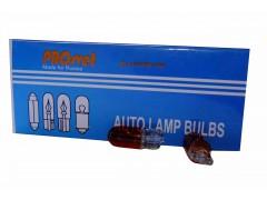 Авто-лампочка PROsvet 12v WY5W T10 W2.1x9.5d б/ц оранж.