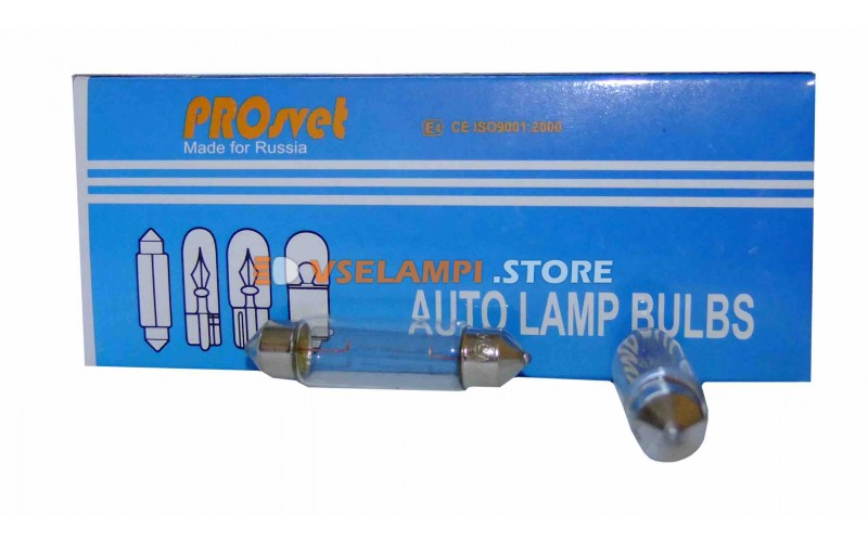 Авто-лампочка PROsvet 12v C5W T11x41 А/С 5w удлин.