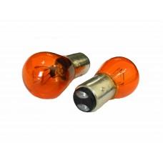 Галогенная лампа PROsvet 12v 21/4w (BAZ15d) AMBER 2к. со смещ. цок. оранж.