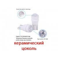 Светодиод К 12v T10 б/ц 3 SMD 2835 LT CL керамика