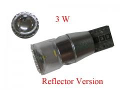 Светодиод К 12v T10 б/ц 3W Reflector Version, обманка, белый
