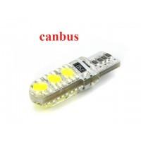 Светодиод К 12v T10 б/ц 6SMD(5050) White силикон арт. T10 6SMD CAN