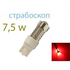 Светодиод К 12v T20/5 б/ц COB 7.5w Red FLASH арт. 7443