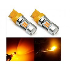 Светодиод К 12v T20 б/ц 21SMD CAN+/- 12-30v Orange арт. 7440 2шт.