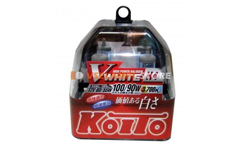 Галогенные лампы KOITO Vwhite 3700K комплект 2шт.