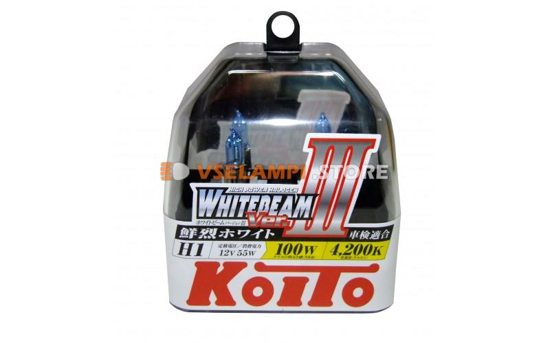 Галогенные лампы KOITO Whitebeam III комплект 2шт. - цоколь H1