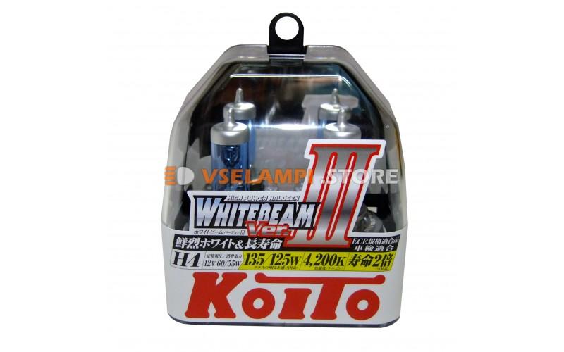 Галогенные лампы KOITO Whitebeam III комплект 2шт. - цоколь H4