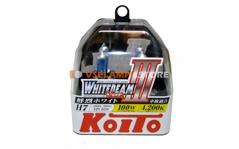 Галогенные лампы KOITO Whitebeam III комплект 2шт. - цоколь H7