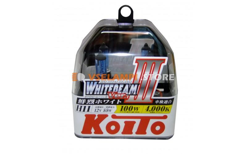Галогенные лампы KOITO Whitebeam III комплект 2шт. - цоколь H11