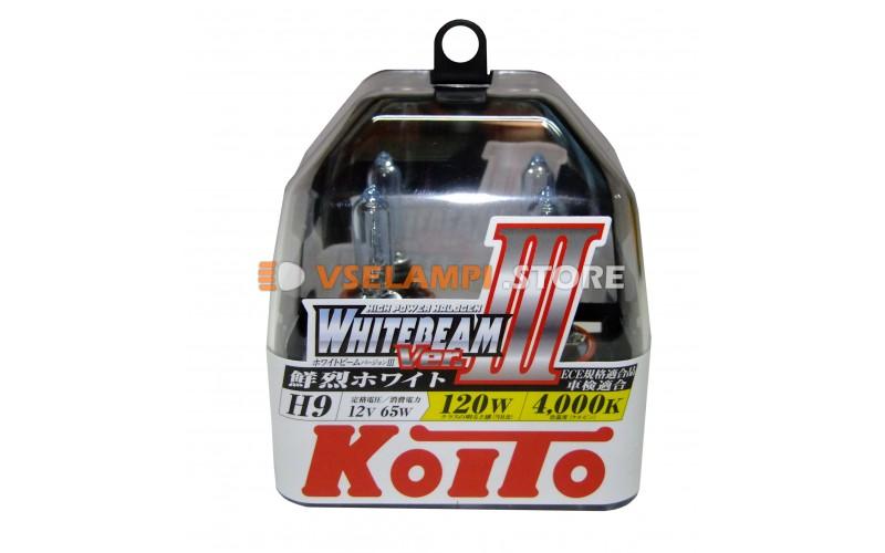 Галогенные лампы KOITO Whitebeam III комплект 2шт. - цоколь H9