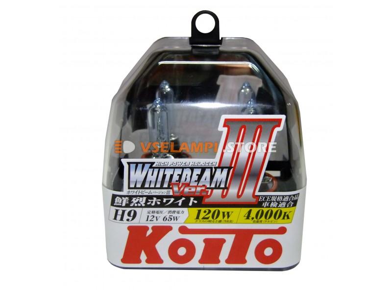 Галогенные лампы KOITO Whitebeam III комплект 2шт. - цоколь H8