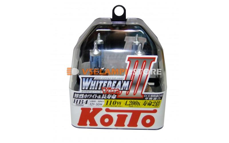 Галогенные лампы KOITO Whitebeam III комплект 2шт. - цоколь HB4