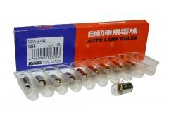 Авто-лампочка KOITO T3.4W (BA9s), 1 конт, 12v, 3.4w, желтый