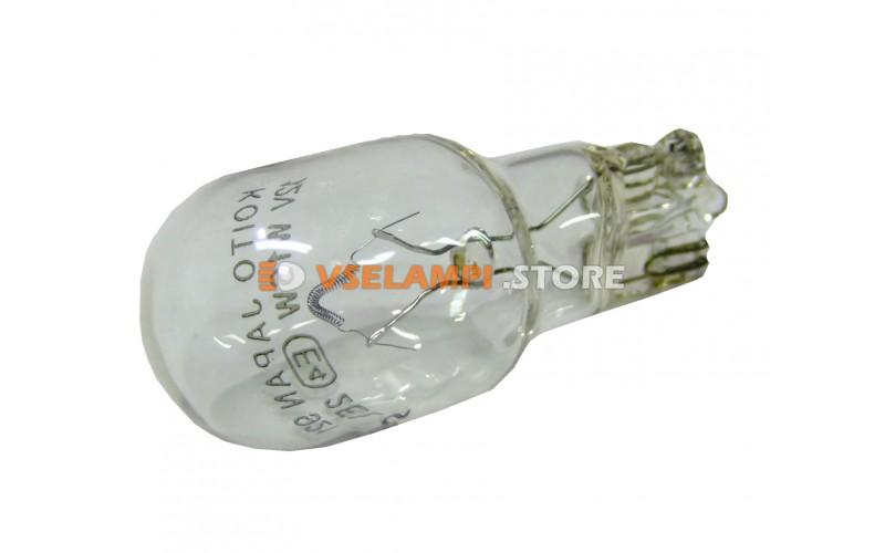 Лампа накаливания 1-контактная б/ц KOITO Т16 (W16W), 12v, 16w, цвет желтый, 1шт - 1781