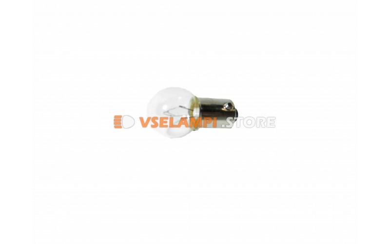 Лампа накаливания 1-контактная KOITO R6W (BA9s), 12v, 6w, цвет желтый, 1шт - 1263