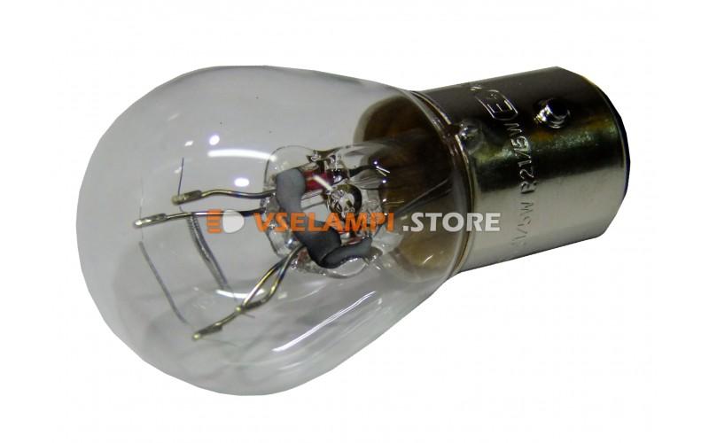 Лампа накаливания 2-контактная KOITO S25 P21/5W (BAY15d), 12v, 21/5w, цвет желтый, 1шт - 4524