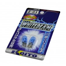 Галогенная лампа KOITO T10 12v 5W (ярко-белого свечения) 3900К Р8813W