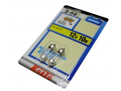 Комплект авто-лампочек 2шт - KOITO S8.5/8.5 T10x31 (C10W), 12v, 10w, белый