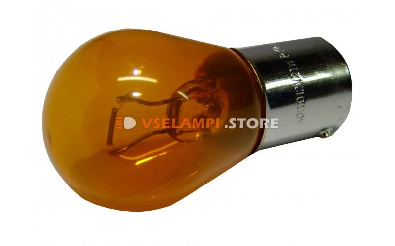 Лампа накаливания 1-контактная KOITO S25 PY21W, 12v, 21w, цвет оранжевый, 1шт - 4570A