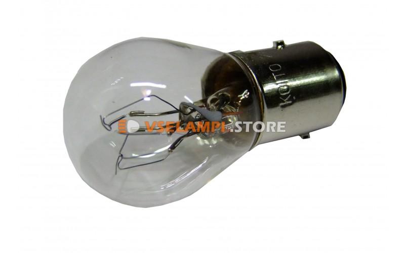 Лампа накаливания 2-контактная KOITO S25 P30/10W, 24v, 30/10w, цвет желтый, 1шт - 4728