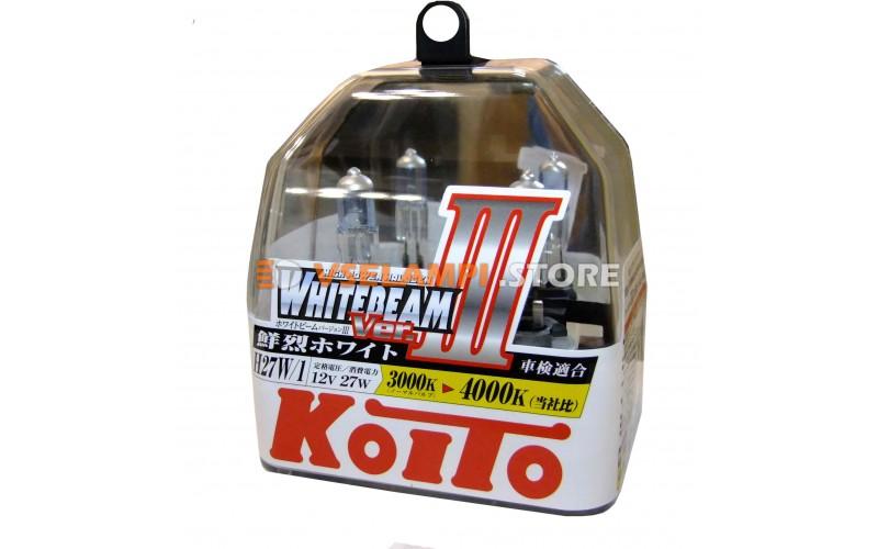 Галогенные лампы KOITO Whitebeam III комплект 2шт. - цоколь H27/1