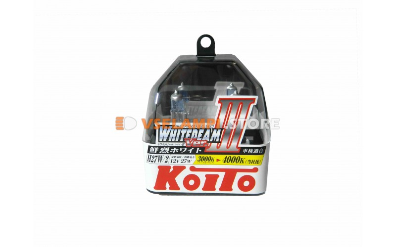 Галогенные лампы KOITO Whitebeam III комплект 2шт. - цоколь H27/2