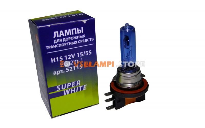 Галогенные лампы Маяк Super White +30% комплект 2шт. - цоколь H15