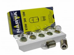 Авто-лампочка Narva R10W (BA15s), 1 конт, 24v, 10w, желтый