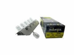Авто-лампочка б/ц Narva W3W (W2.1x9.5d), 1 конт, 24v, 3w, желтый