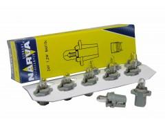 Авто-лампочка Narva Grey W1.2W BAX (B8.3d), 24v, 1.2w, желтый
