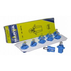 Авто-лампочка Narva Blue W2W BAX (BAX10s), 12v, 2w, желтый