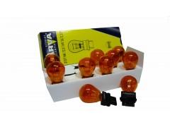 Авто-лампочка Narva P27/7W (w2,5x16d), 2 конт, 12v, 27/7w, оранжевый