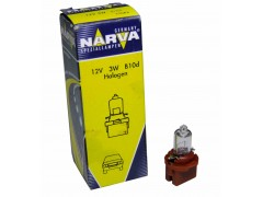 Авто-лампочка Narva Brown W3W BAX (B10d), 12v, 3w, желтый