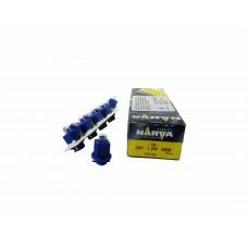 Галогенная лампа Narva BAX 24V-1.2W (B8.0-12) Blue (EBS-R) 17112