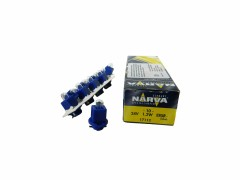 Авто-лампочка Narva Blue (EBS-R) W1.2W BAX (B8.0-12), 24v, 1.2w, желтый