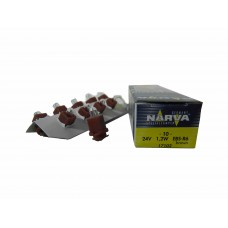 Галогенная лампа Narva BAX 24V-1.2W (B8.0-12) Brown (EBS-R6) 17102