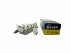 Авто-лампочка Narva White (EBS-R) W1.2W BAX (B8.0-12), 24v, 1.2w, желтый