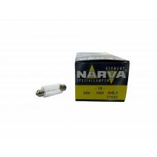Авто-лампочка Narva Fest C18W (SV8.5-41), 41мм, 24v, 18w, желтый
