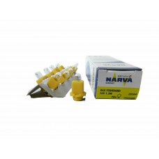 Галогенная лампа Narva BAX 24v-1.2w (B8,0-12) Yellow (EBSR) 17022