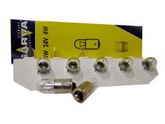 Авто-лампочка Narva T4W HD (DF9s), 1 конт, 24v, 4w, желтый