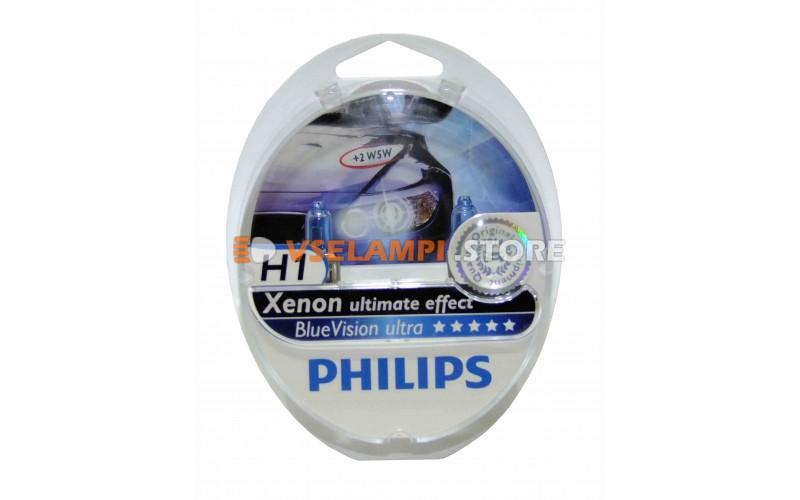 Галогенные лампы PHILIPS Blue Vision комплект 2шт.