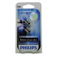 Галогенная лампа PHILIPS Blue Vision T4W 12v 4w (BA9s) (габарит цок.) (голубой спектр3400К) 12929BVB2