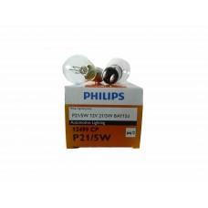 Галогенная лампа PHILIPS P21/5W 12v 21/5w (BAY15d) 2х конт. 12499CP
