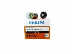 Авто-лампочка PHILIPS R10W 12v 10w (BA15s) 1 конт. 12814CP