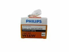 Галогенная лампа PHILIPS W16W 12v 16w (W2,1x9,5d) 12067CP