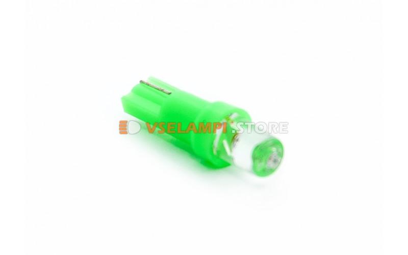 Светодиод 12vT5 1LED микрушка - опция зелёный