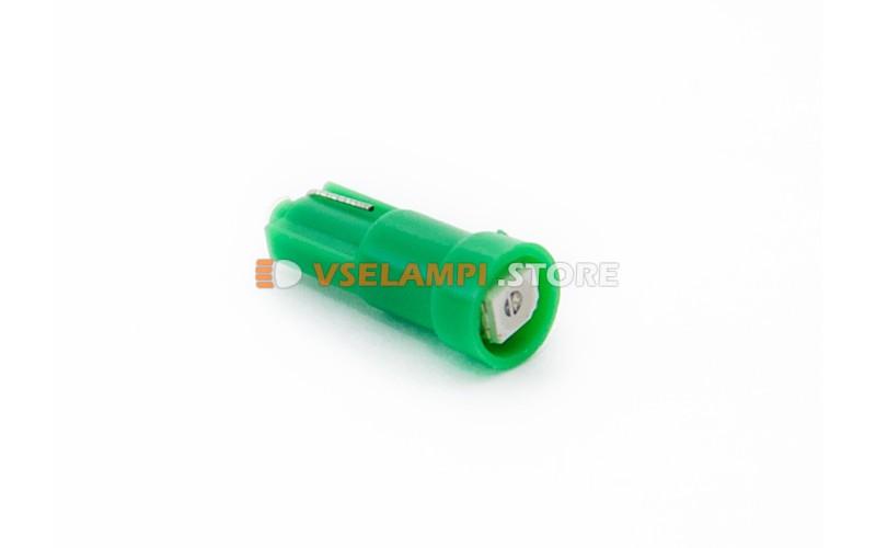 Светодиод 12vT5 1SMD 1chip микрушка - цвет свечения зелёный