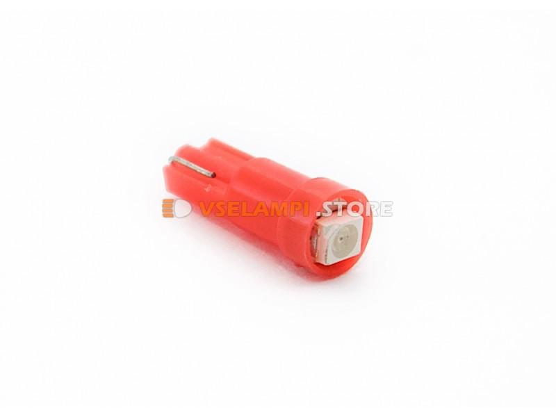 Светодиод 12vT5 1SMD 1chip микрушка - цвет свечения красный